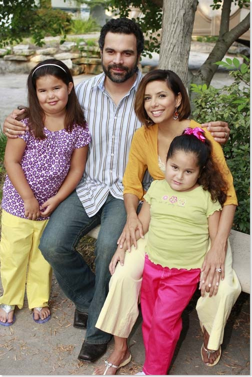Carlos, Gabby, and their daughters