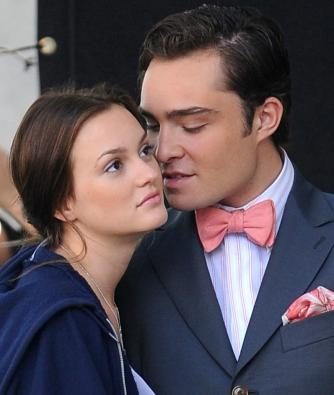 Leighton Meester as Blair and Ed Westwick as Chuck