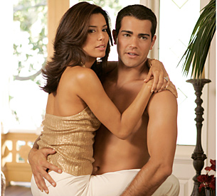 Eva Longoria-Parker as Gabby and Jesse Metcalfe as John